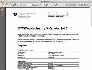 Mwst Abrechnung : erfahrungsbericht die elektronische einreichung der mwst abrechnung run my accounts ag ~ Themetempest.com Abrechnung