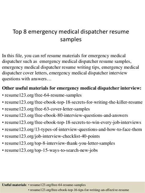 911 dispatcher description resume top 8 emergency dispatcher resume sles