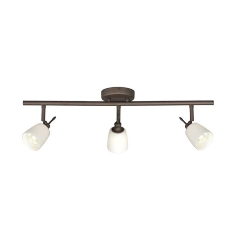 shop galaxy fixed track 3 light 25 in rubbed bronze