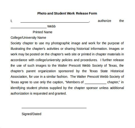 sample work release forms    documents