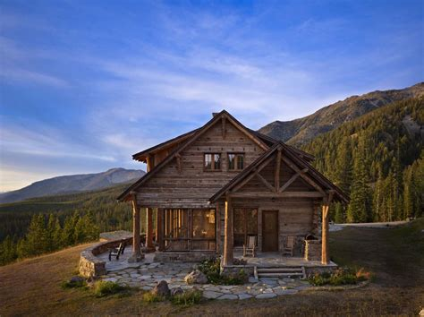 rustic mountain retreat offers sweeping views big sky country