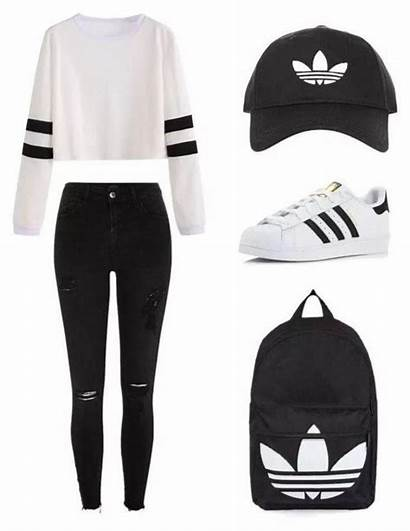 Outfits Polyvore Adidas Outfit Schooloutfits Teenage Setting