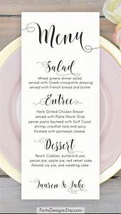 calligraphy menu wedding menu printable menu cards script With examples of wedding menu cards
