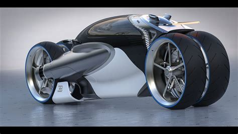 new bugatti type 100m concept motorbike is powerful