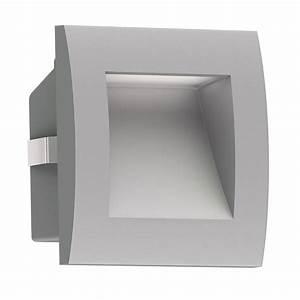 Blumentopf Aussen Grau : led wand einbauleuchte zibal f r au en grau warm wei 90x90mm von ~ Sanjose-hotels-ca.com Haus und Dekorationen