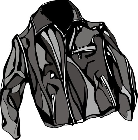 leather jacket clip art  vector  open office drawing
