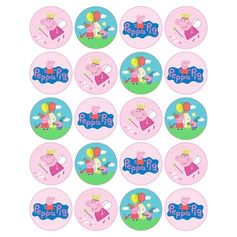 peppa pig   cupcakes sweet tops personalised