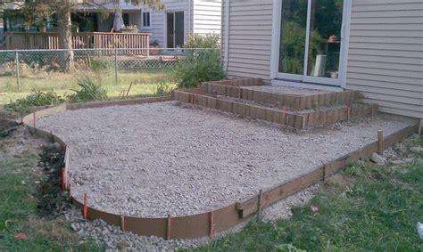 poured concrete patio designs patio and steps were