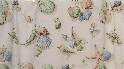 martha stewart seashells fabric shower curtain beige multi