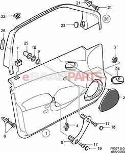4704763  Saab Door Handle  Interior  Front Driver Lh