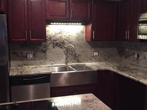 colonial white granite countertops installation kitchen