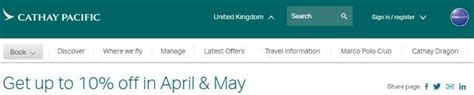 67084 Cathay Pacific Discount Code by Cathay Pacific Promotion Code 2019 10 Discount All Flights