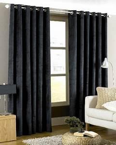 Tringle A Rideau Noir : rideaux noir luxe velours pais 168x229cm avec anneaux passe tringle doubl ma chambre ~ Mglfilm.com Idées de Décoration