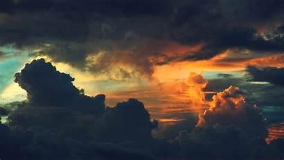 Clouds Sunset Dark Background Resolution Skies Wallpapers