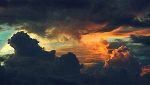 Sunset Dark Clouds wallpaper