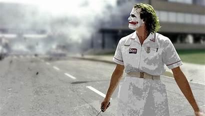 Joker Knight Dark Heath Batman Hospital Explosion