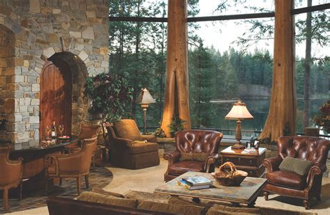 lakeside log home  idahos lake coeur dalene