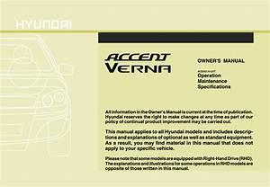 Hyundai Accent 2007 Owner U0026 39 S Manual