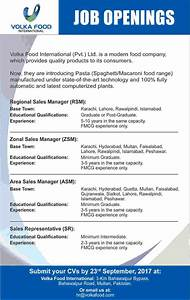 Volka Food International Pvt Ltd Pakistan Jobs 2017 ...