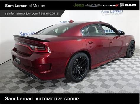 dodge charger rt scat pack rwd  red sedan srt hemi