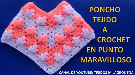 poncho tejido a crochet 4 en punto maravilloso paso a paso