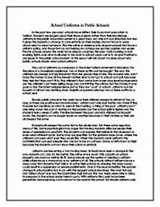 Thesis Essay Topics No School Uniform Policy Essay Sample Business Etiquette Essay also Example Of Essay Writing In English No School Uniforms Essay Close Reading Essay Examples No School  Thesis Statement For Friendship Essay
