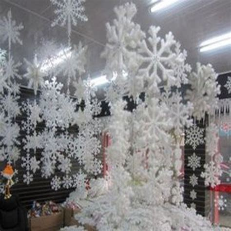 30pcs 10 bags white snowflake christmas decortions for