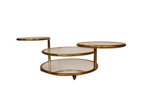 Previous post:thayer coggin coffee table modern unique. Milo Baughman style Mid Century Four Tier Brass Glass Swivel Coffee Table