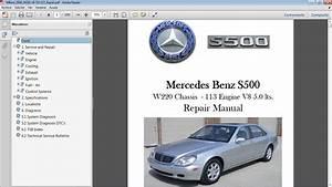 Mercedes Benz S500 W220 Manual De Taller