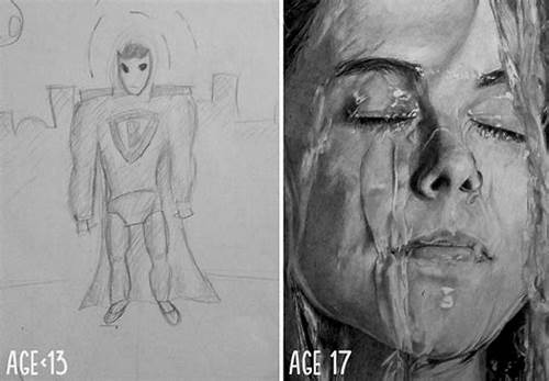 The Same Boring School Or Learns Day By #10+ #Before #And #After #Drawings #Show #Practice #Makes #Perfect