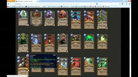 hearthstone decks druid gvg hearth druid agro deck