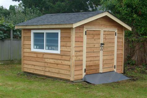 pre cut shed kit custom install surrey cedar