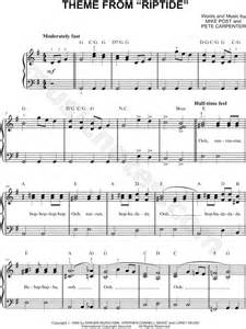 Riptide Chords Piano Easy Sheet Music