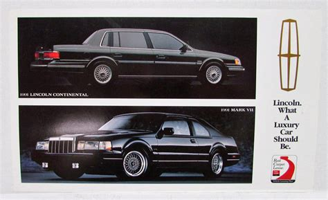 electric and cars manual 1991 lincoln continental electronic toll collection 1991 lincoln town car lease promotional card