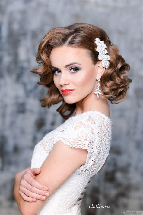 glamorous bridal hairstyles  flowers pretty designs