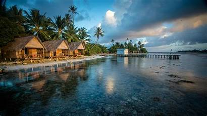 4k Reef French Wallpapers Polynesia Bungalows Water