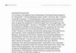 supernatural occurrences in macbeth