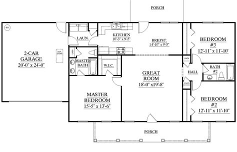 Modern House Plans One Story Open Floor Plan Ranch Style