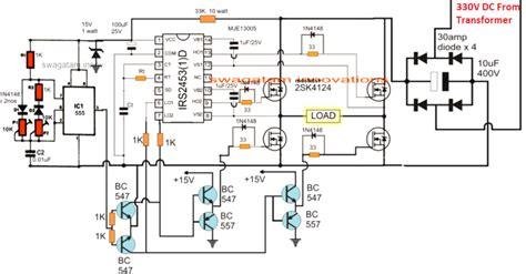 simple ic 555 inverter circuit