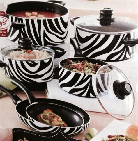 zebra print cookware pots decor pans animal zebras learn prints cook