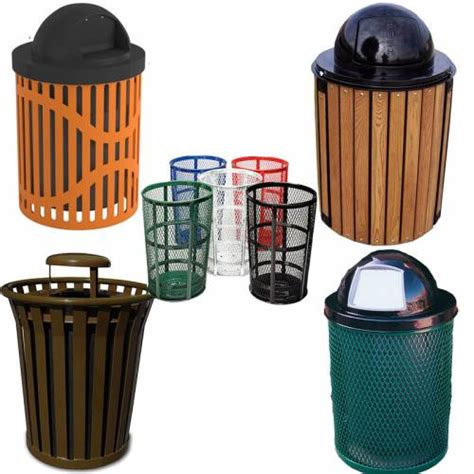 steel trash receptacles commercial outdoor trash cans