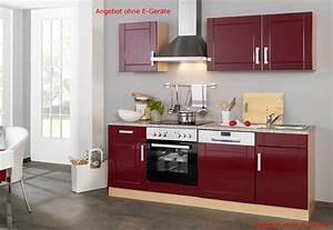 Küchen Ohne Elektrogeräte : k chenzeile ohne ger te einbauk che ohne elektroger te 220 cm hochglanz rot 4250163703775 ebay ~ Orissabook.com Haus und Dekorationen