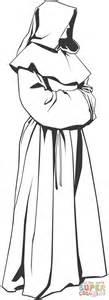 clipart da colorare disegno di monaco misterioso da colorare disegni da