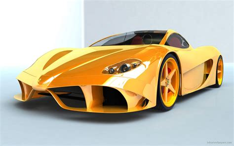 Ferrari Yellow Concept Wallpaper