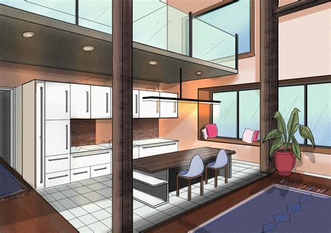 kitchen furnitures how to draw with two point perspective beautiful