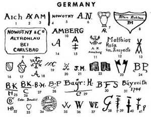 German Pottery Marks Identification
