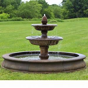 1000 images about large estate garden fountains on for Backyard water fountains