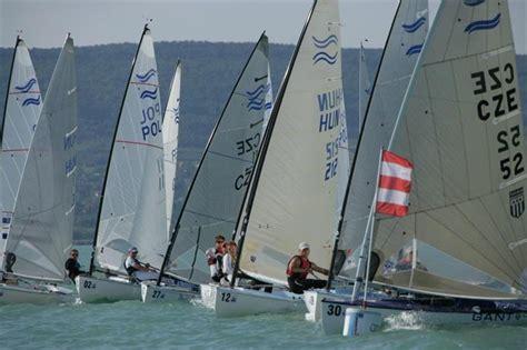 Finn Junior World Champs In Balatonfüred, Hungary  Day 1