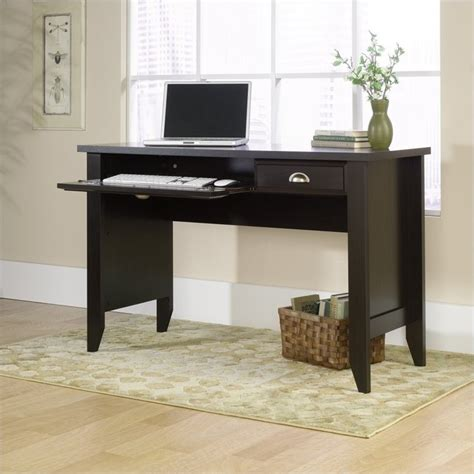 sauder shoal creek desk oak computer desk in jamocha wood 409936