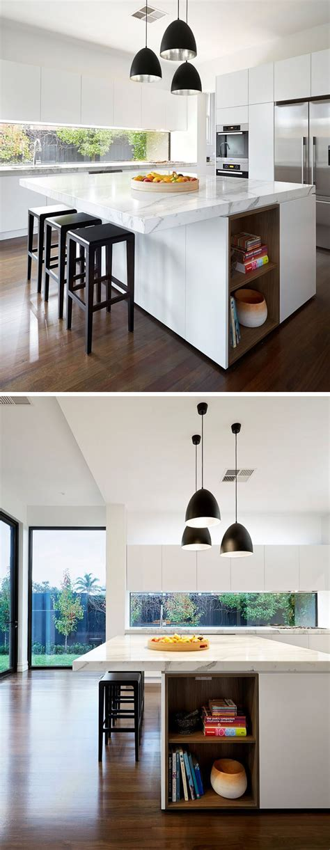 inspirational examples  built  shelves lined  wood